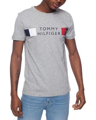Tommy Hilfiger Rwb Stripe Tee Medium Grey Heather