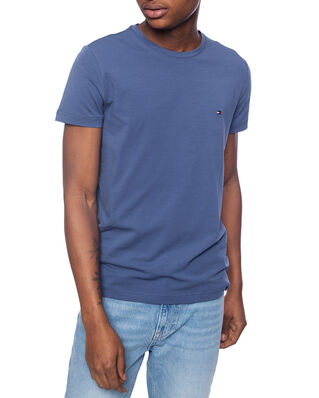 Tommy Hilfiger Stretch Slim Fit Tee Faded Indigo