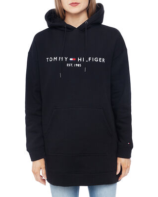 Tommy Hilfiger Th Ess Hooded Dress Ls Black