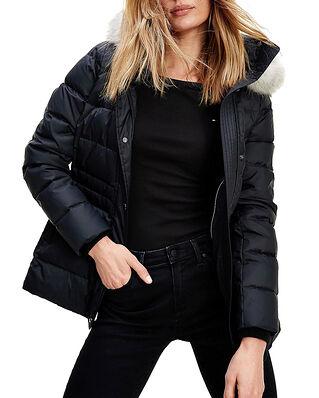 Tommy Hilfiger Th Ess Tyra Down Jkt With Fur Black