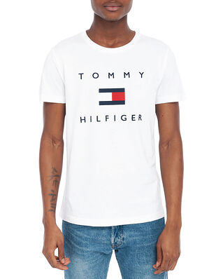 Tommy Hilfiger Tommy Flag Hilfiger Tee White