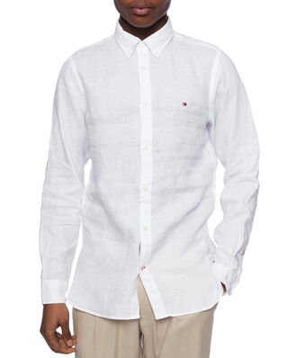 Tommy Hilfiger Wcc Slim Solid Linen Shirt White
