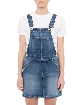Tommy Jeans Classic Dungaree Dress Blue