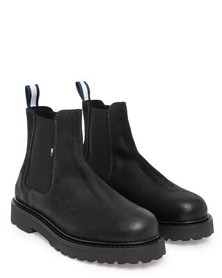 Tommy Jeans Suede Chelsea Boot Black