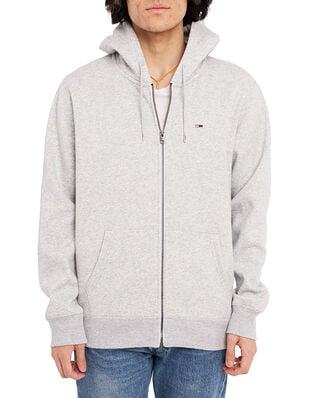 Tommy Jeans Tjm Regular Fleece Zip Hoodie Lt Grey Htr