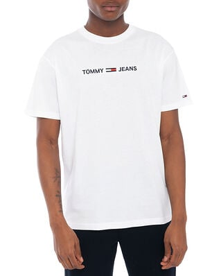 Tommy Jeans Tjm Straight Logo Tee White