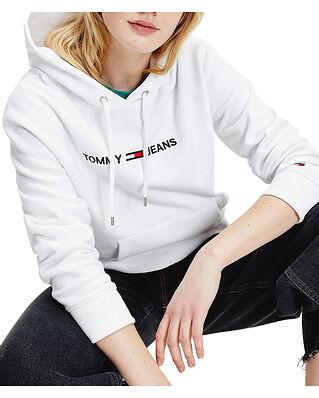 Tommy Jeans Tjw Linear Logo Hoodie White
