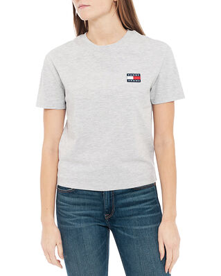 Tommy Jeans Tjw Tommy Badge Tee Silver Grey Htr