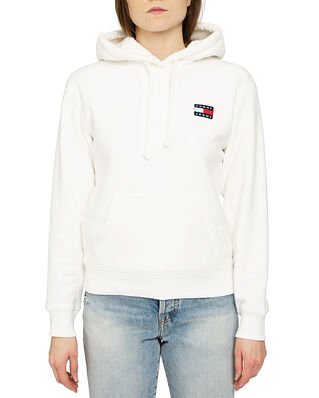 Tommy Jeans Tjw Badge Polar Fleece Hoodie Snow White