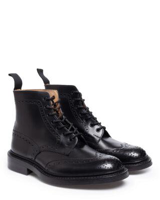 Tricker's Men's Black Box Calf Brogue Boots