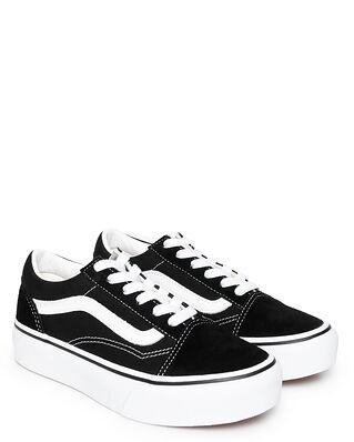 Vans Junior UY Old Skool Platform Black/True White