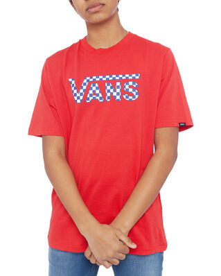 Vans Junior Vans Classic Logo Fill Boys Racing Red/Checkerboard