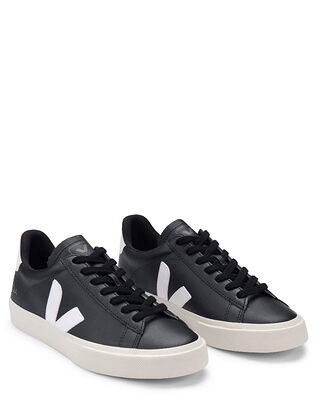 Veja Campo Chromefree Leather Black/White