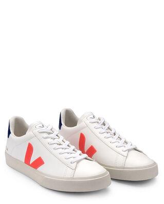 Veja Campo Chromefree Leather Extra-White/Orange-Fluo/Cobalt