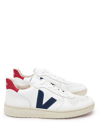 Veja V-10 Leather Extra White/Nautico Pekin
