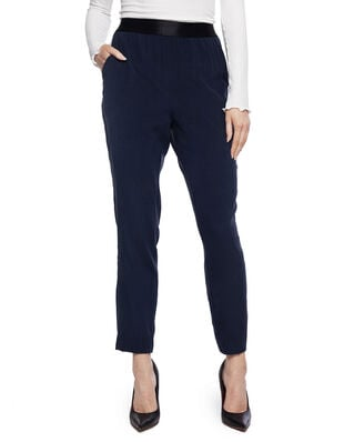 Whyred Blue Elastic Silk Stretch Classic Navy
