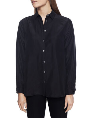 Whyred Karolina Washed Silk Shirt Black