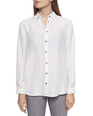 Whyred Karolina Washed Silk Shirt Offwhite