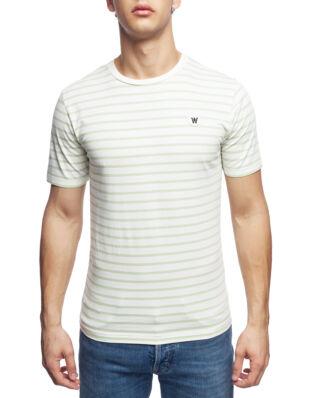 Wood Wood Ace T-Shirt Off-White/Mint Stripes