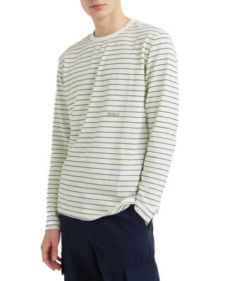 Wood Wood Viggo Long Sleeve Off-White Stripe