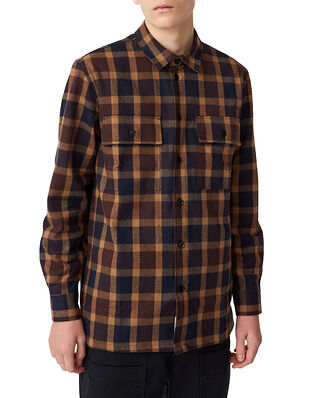 Wood Wood Franco shirt Navy Check