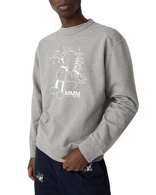 Wood Wood Hugo Sweatshirt Grey Melange