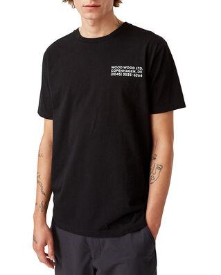 Wood Wood Info T-Shirt Black