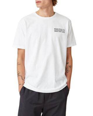 Wood Wood Info T-Shirt Bright White