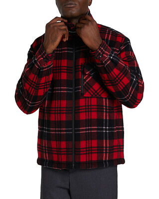Woolrich Timber Padded Over Shirt Red Black Check