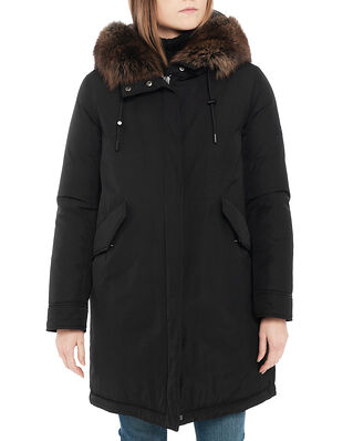 Yves Salomon Coat Technical Fabric / Fox Noir/Anthracite