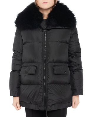 Yves Salomon Coat Technical Fabric Noir