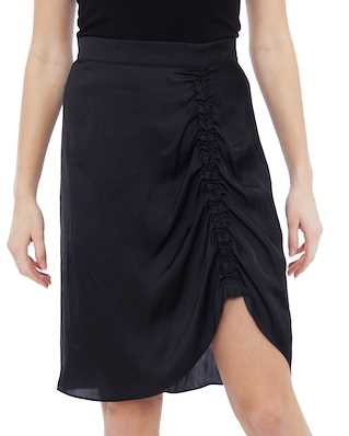 Zadig & Voltaire Jiji Satin Asymetric Skirt Black
