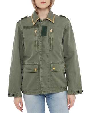 Zadig & Voltaire Kid Mili Jacket Khaki