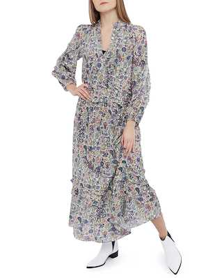 Zadig & Voltaire Realize Print Mandala Long Dress Ecru
