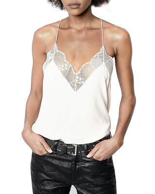Zadig & Voltaire Christy Cdc Caraco With a Scoop Neckline Ecru