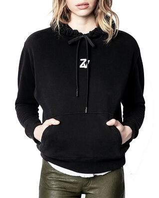 Zadig & Voltaire Spencer Photoprint Cotton Hoodie Noir