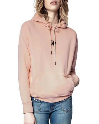 Zadig & Voltaire Spencer Photoprint Cotton Hoodie Peau