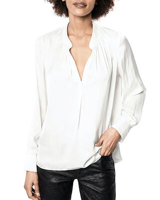 Zadig & Voltaire Tink Satin Tunic Blouse Permanent Blanc