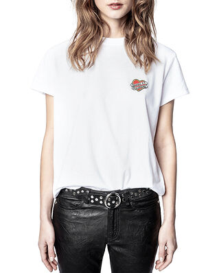 Zadig & Voltaire Zoe Small Heart Iconics T-Shirt Blanc