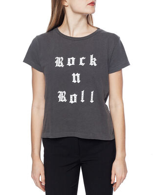 Zadig & Voltaire Alys Rock And Roll Strass Cotton T-Shirt Dark Grey