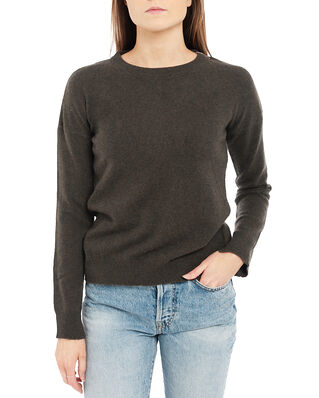 Zadig & Voltaire Cici C Patch Cashmere Sweater Leather Elbows Khaki