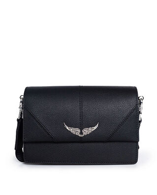 Zadig & Voltaire Lolita Slightly Grained Leather Black