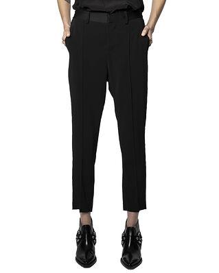 Zadig & Voltaire Panda Crepe Permanent Pants Black