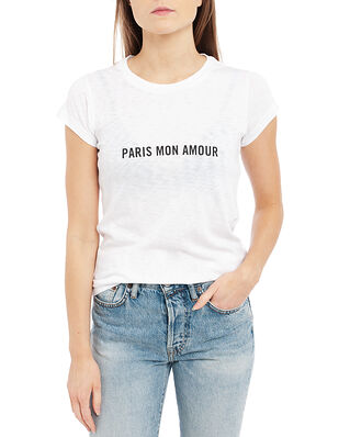 Zadig & Voltaire Skinny Paris Mon Amour Us Co/ Modal T-Shirt White