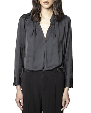 Zadig & Voltaire Tink Satin Tunic Blouse Permanent Black