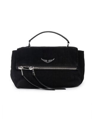 Zadig & Voltaire Twin'S Zip Grained Leather + Suede Black
