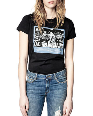 Zadig & Voltaire Zoe Photoprint Printed T-Shirt Noir
