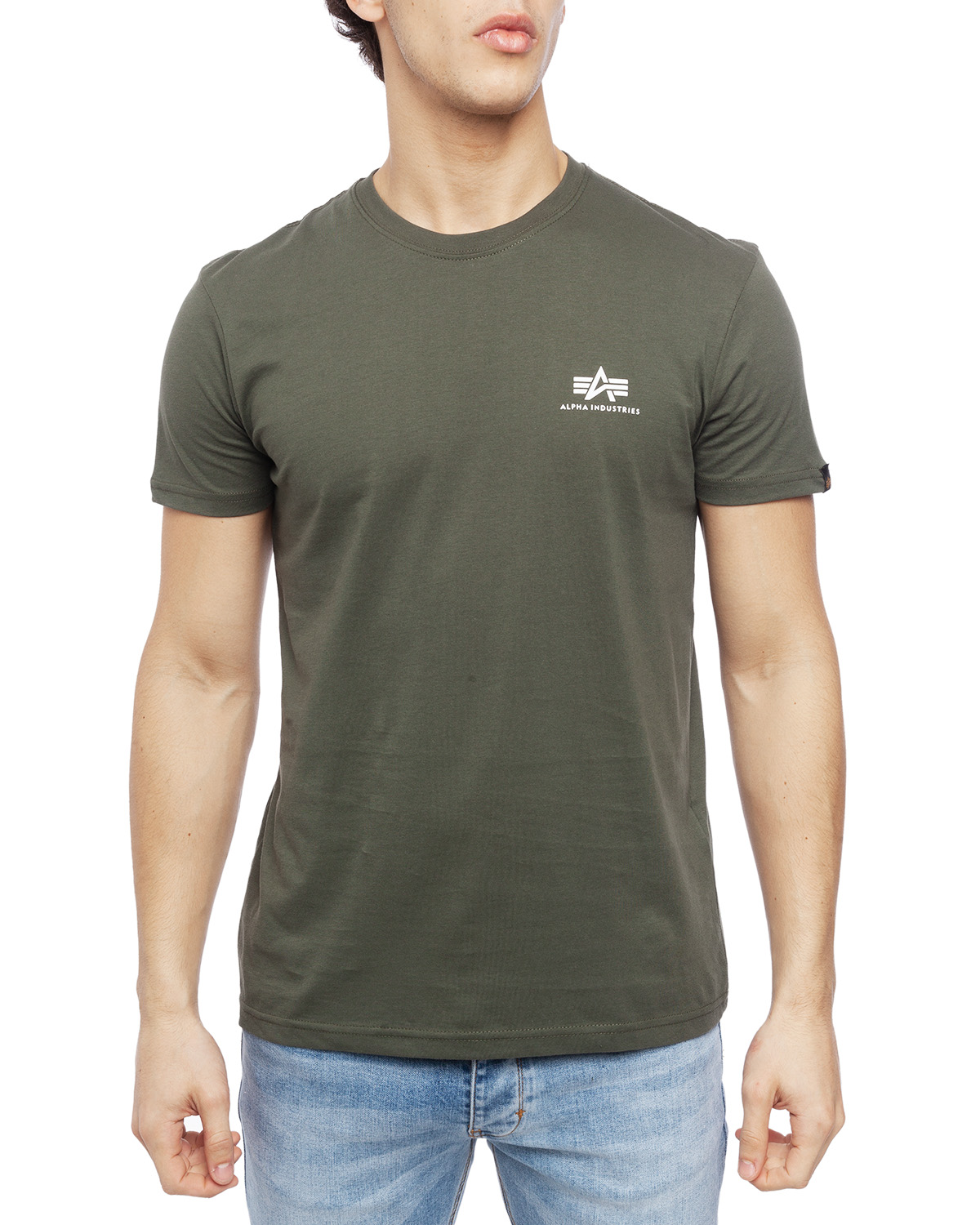 Alpha Industries Basic T skjorte Olive