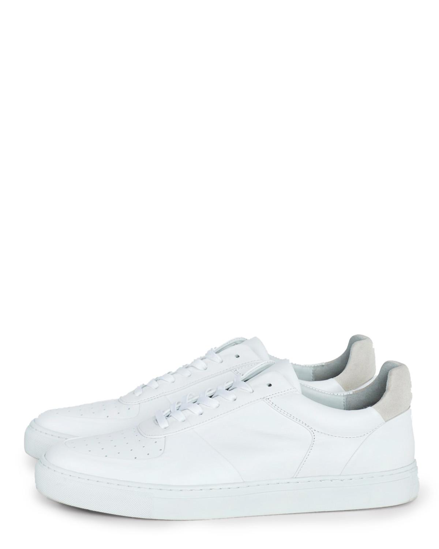 M. Robert Low Mix Sneaker White