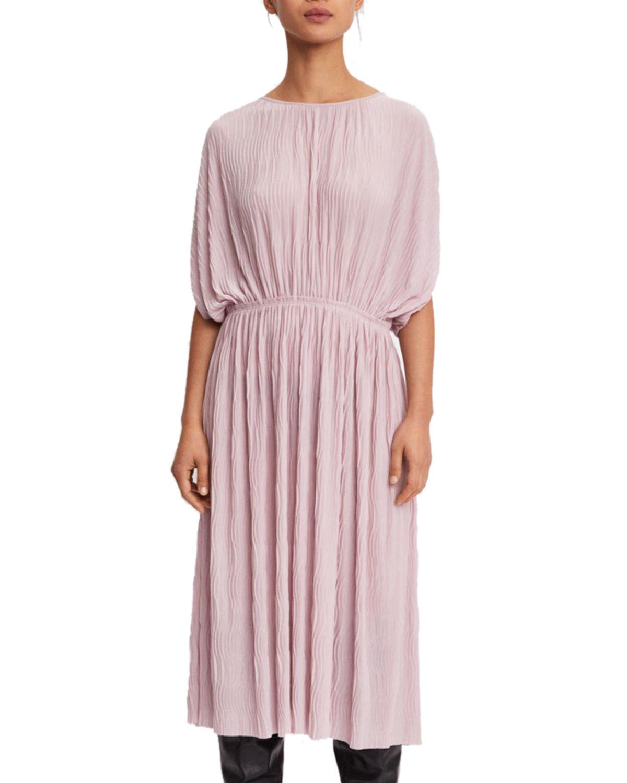 Filippa K Wave Plisse Dress Frosty Pink Klänningar